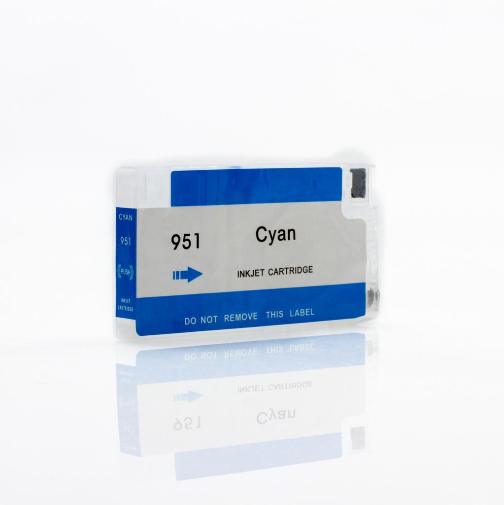 EMPTY REFILLABLE CN046AN (HP951XL) CYAN CARTRIDGE - Not OEM