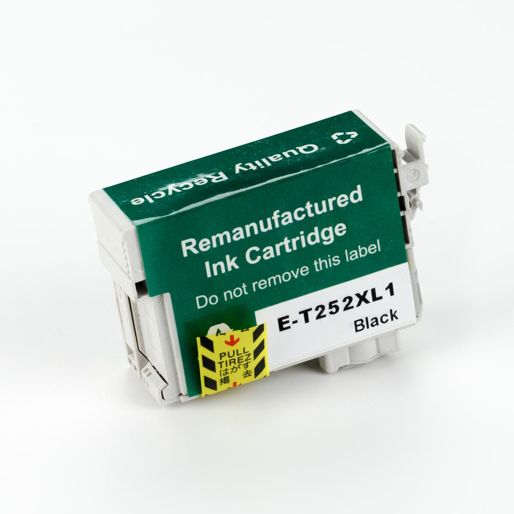 REMANUFACTURED EPSON T252XL BLACK CARTRIDGE (T252XL120)