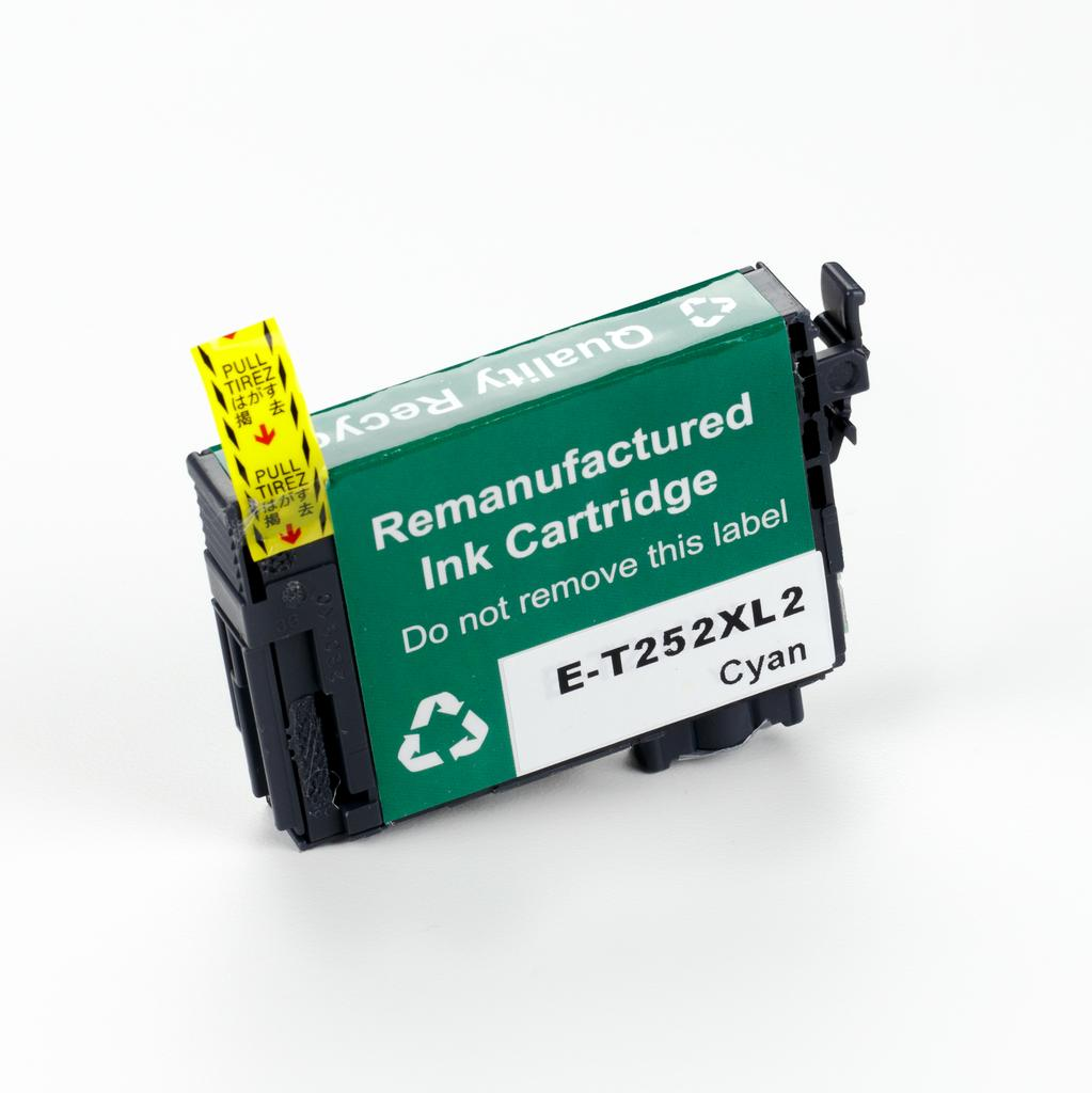 REMANUFACTURED EPSON T252XL CYAN CARTRIDGE (T252XL220)